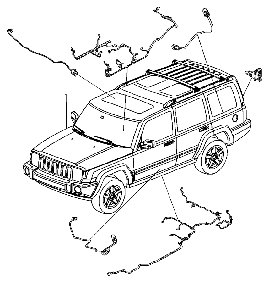 jeep commander sunroof diagram