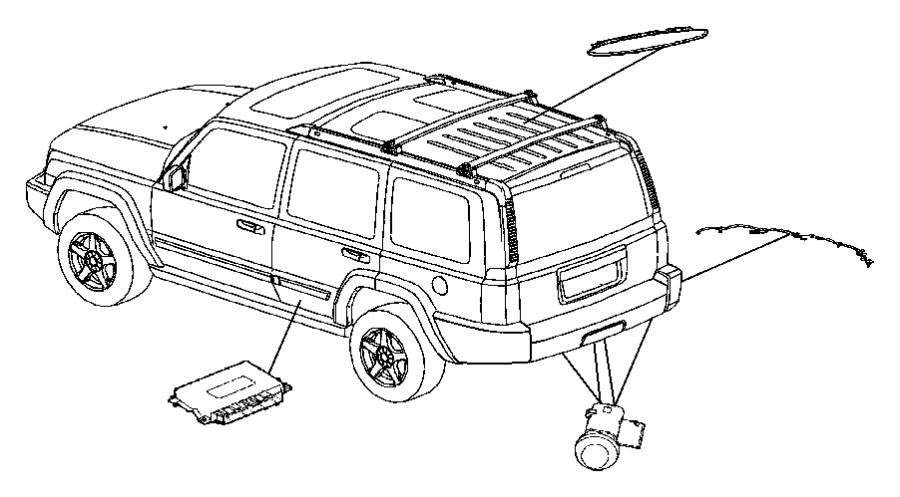jeep commander harness  wiring  rear fascia  sensor wiring