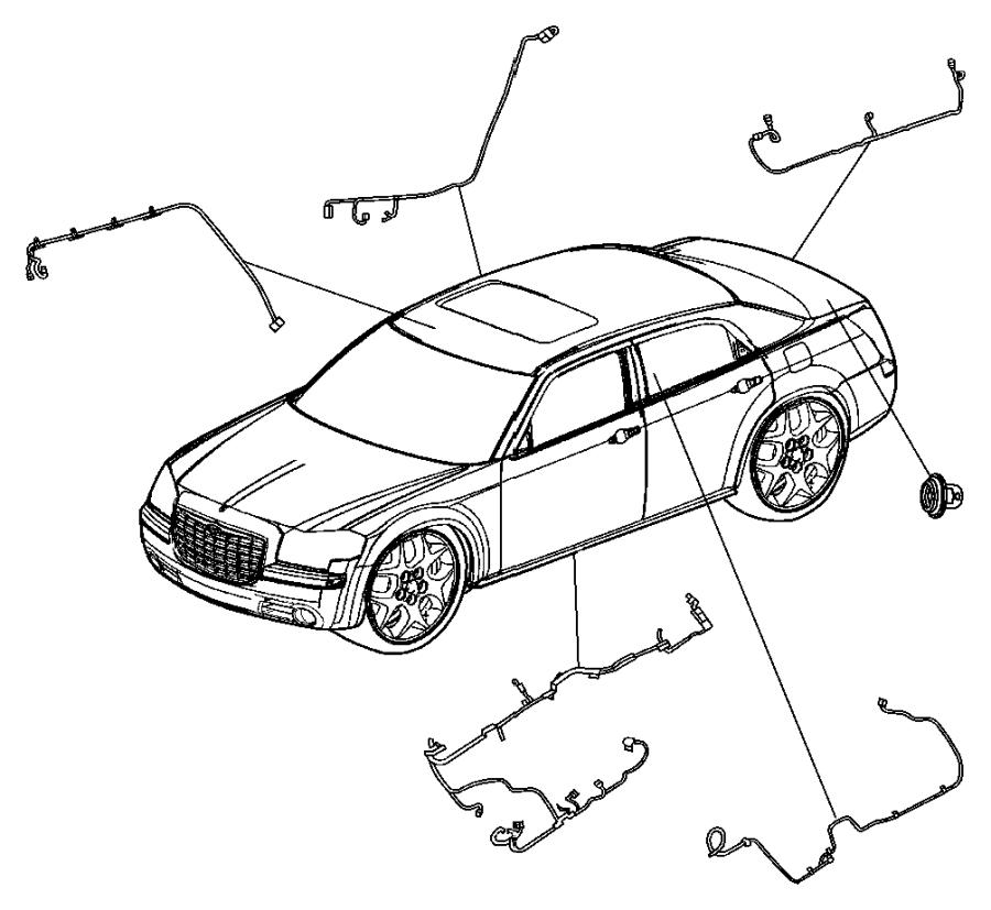 dodge charger wiring  rear fascia  exhaustparksense  mff  ner