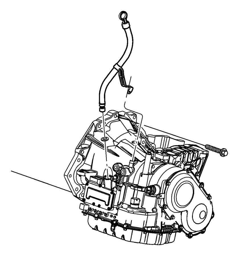 2006 Dodge Grand Caravan Tube  Filler  Transmission Oil