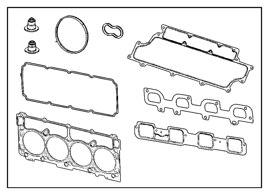 2009 dodge charger gasket  cylinder head  used for  right and left  esf  engine  heads