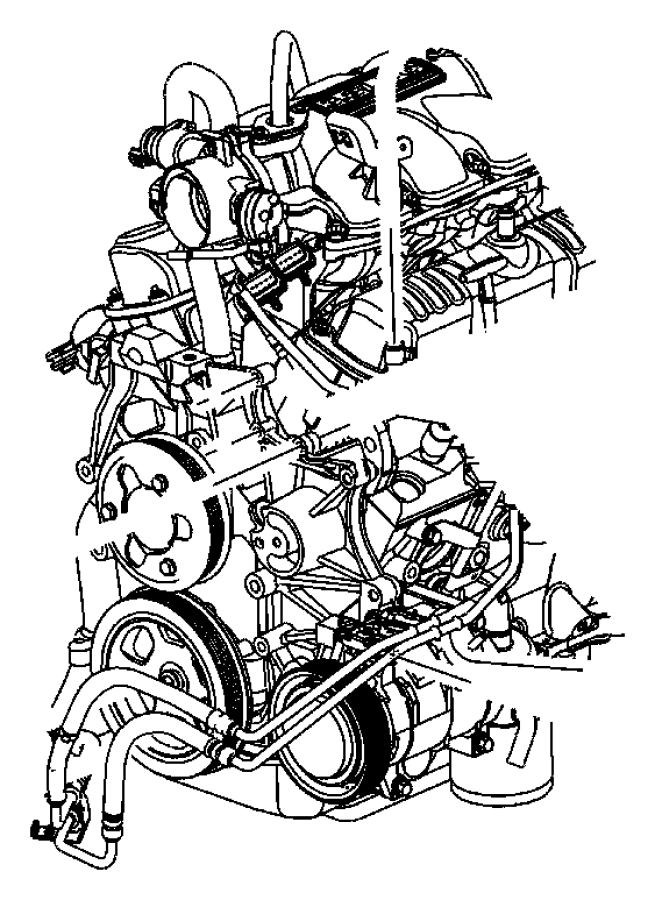 2008 Chrysler Pacifica Hose  Power Steering Pressure