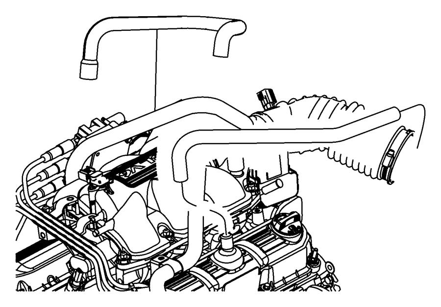 2007 jeep wrangler hose  crankcase vent  make up air  egt