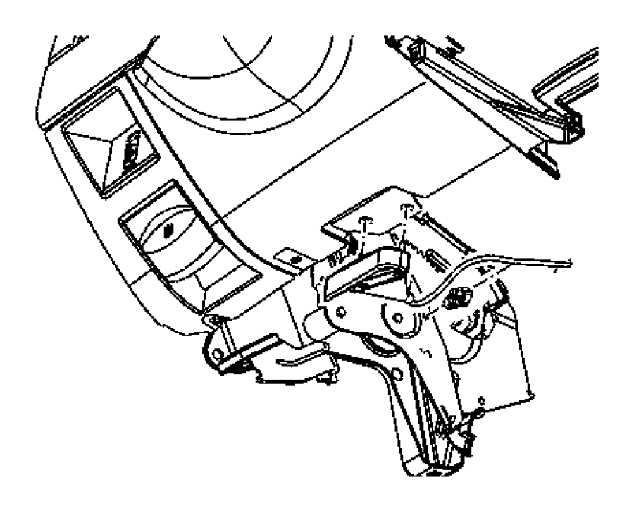 2009 chrysler aspen release  hood latch