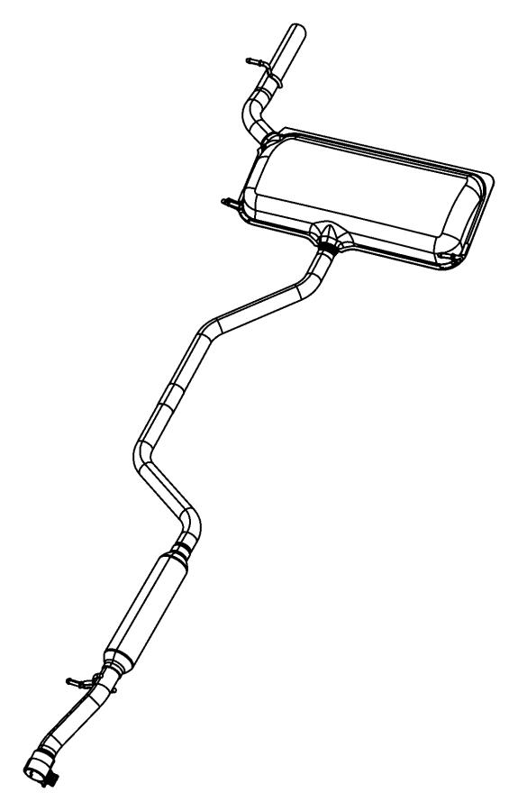 2009 chrysler sebring used for  muffler and tailpipe