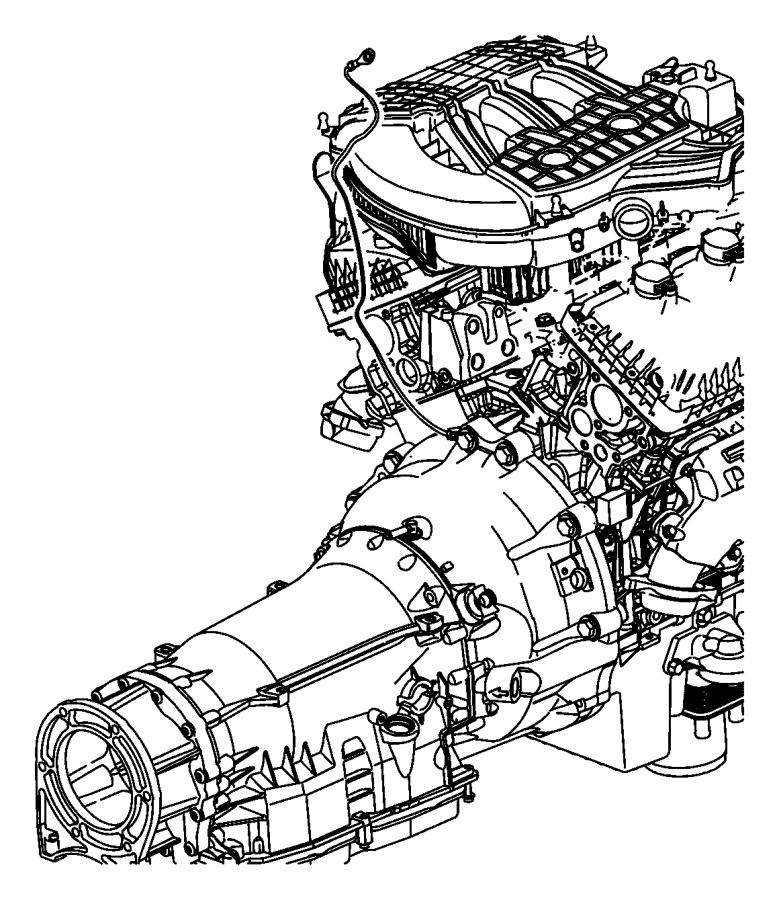 2010 dodge nitro strap  ground  engine to body