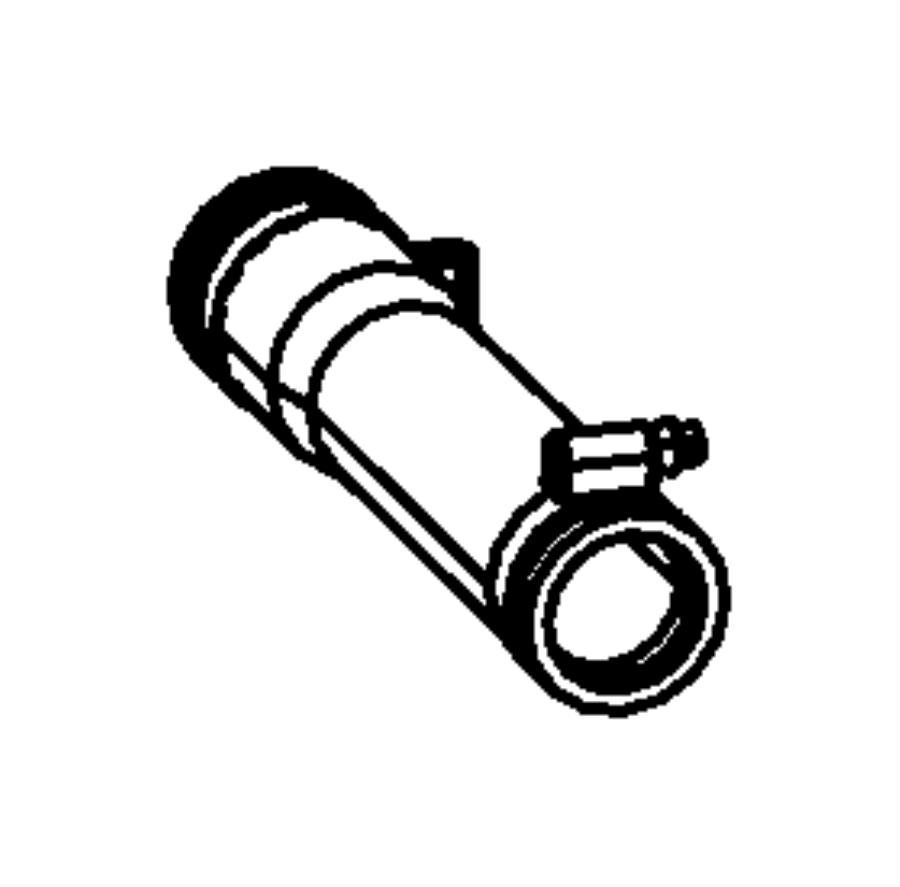 2007 dodge nitro hose  fuel  filler  tube