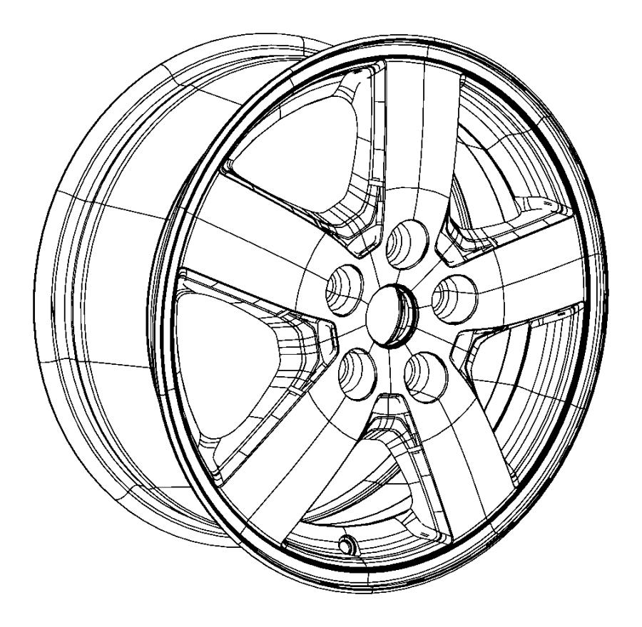 2008 dodge nitro wheel aluminum steel spare size clad. Black Bedroom Furniture Sets. Home Design Ideas