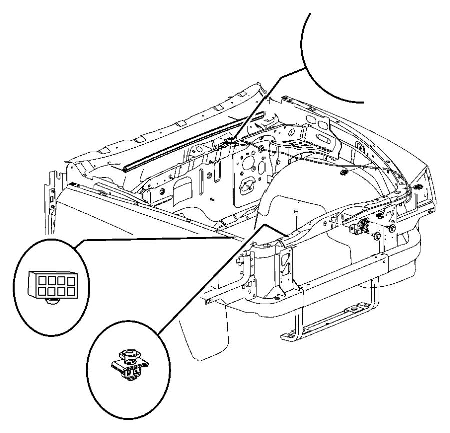 2002 dodge ram hood latch diagram