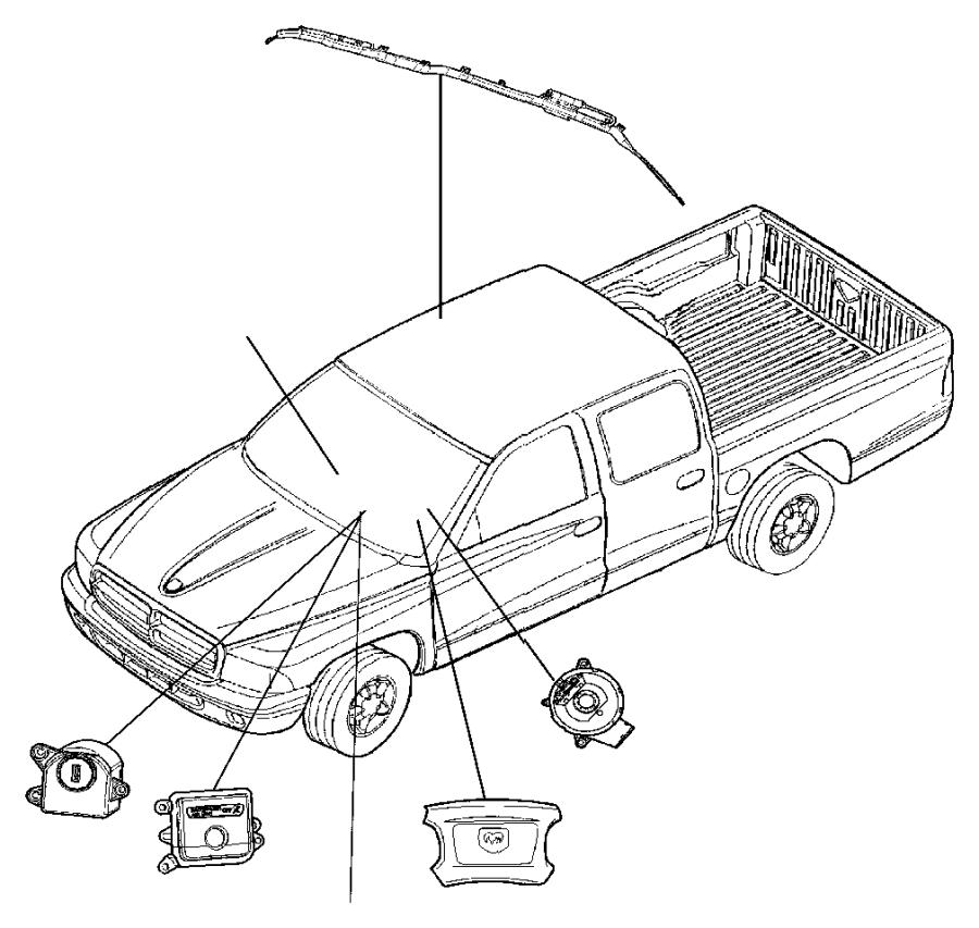 2006 dodge dakota switch  passenger airbag disarm  running  daytime  headlamps