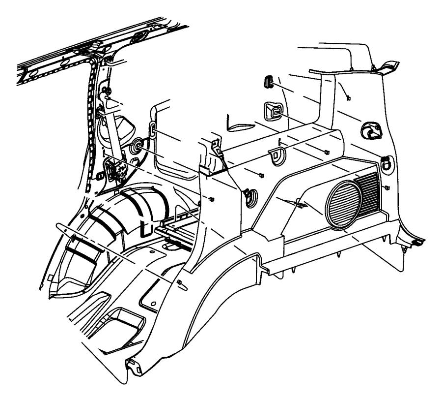 dodge nitro quarter panel diagram