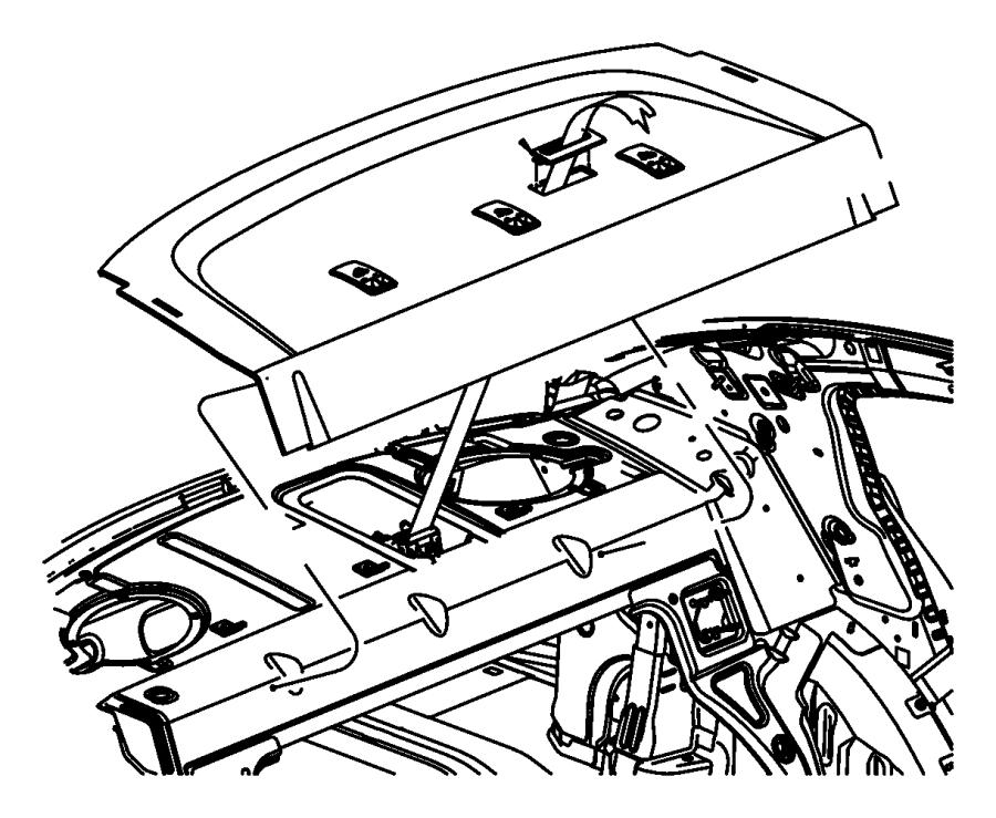 2010 Chrysler Sebring Panel  Shelf  Trim   All Trim Codes
