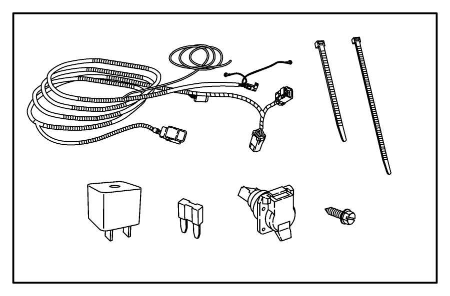 jeep commander wiring  trailer tow