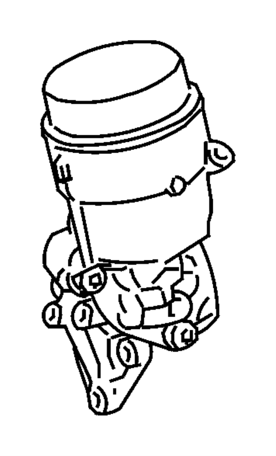2008 dodge sprinter 2500 adapter  oil filter  engine