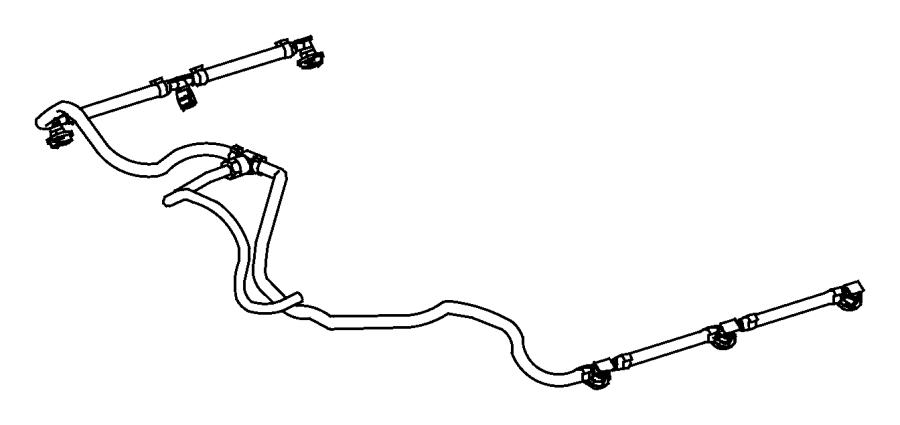 2009 dodge sprinter 3500 tube  fuel return  lines  filter