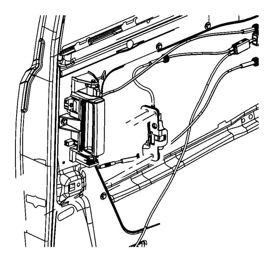 2009 chrysler town  u0026 country actuator  sliding door  lock
