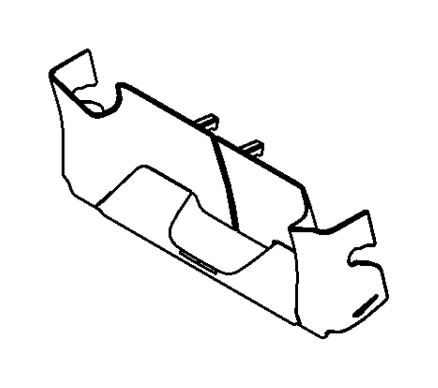 2009 dodge grand caravan shield  left  riser  trim    tl