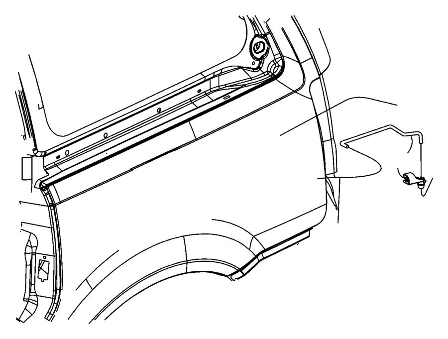 Dodge Intrepid Clip Outside Door Handle Retainer Inner
