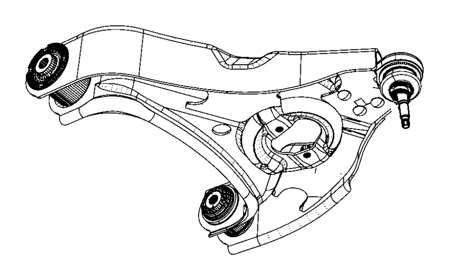 2007 dodge ram 1500 bushing  control arm  front
