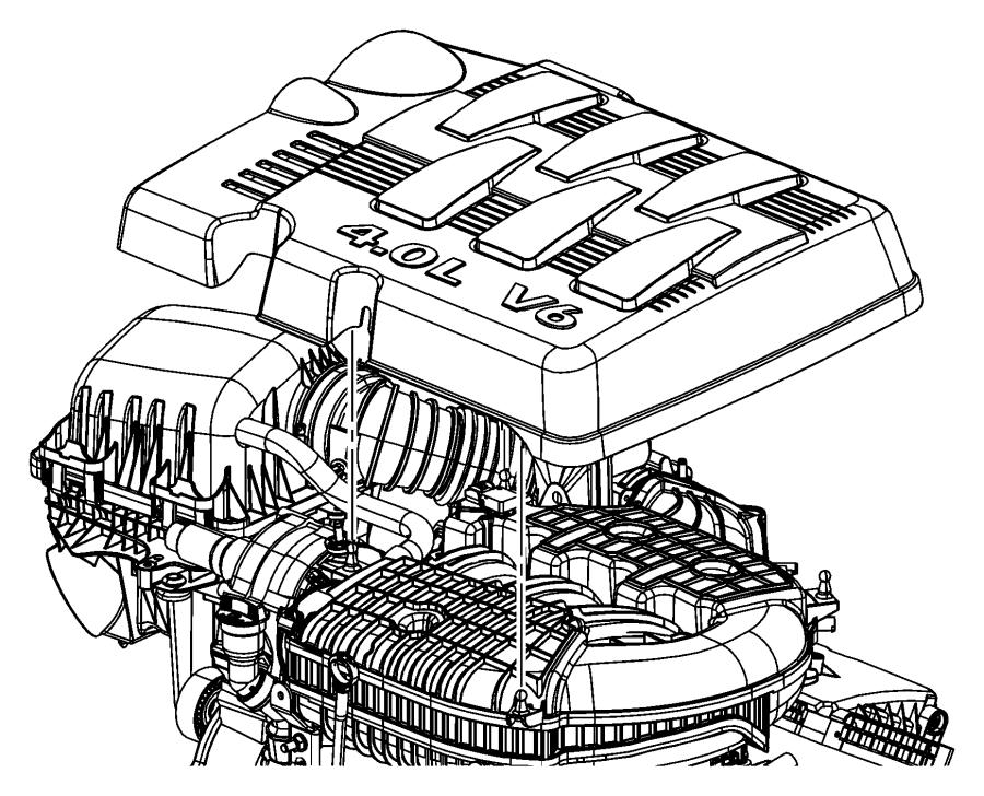 2010 dodge grand caravan cover  engine