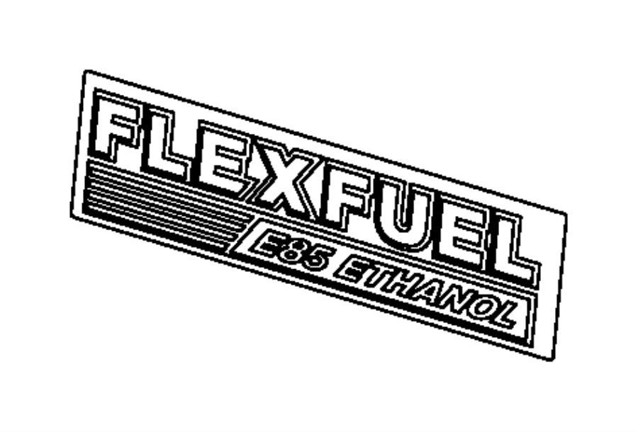 2009 chrysler town  u0026 country nameplate  flex fuel e85
