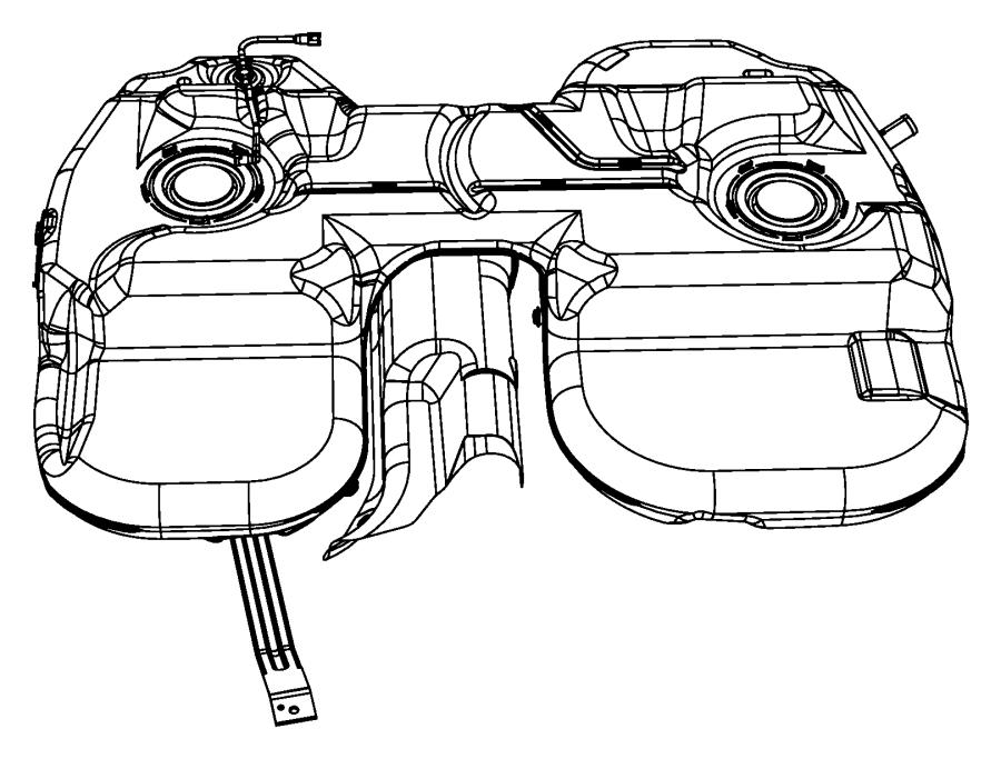 2007 chrysler pacifica tank  fuel  gallon  related  mopar