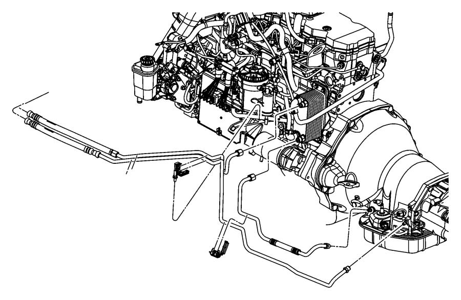 2006 Dodge Ram 2500 Tube  Oil Cooler  Pressure  Lines
