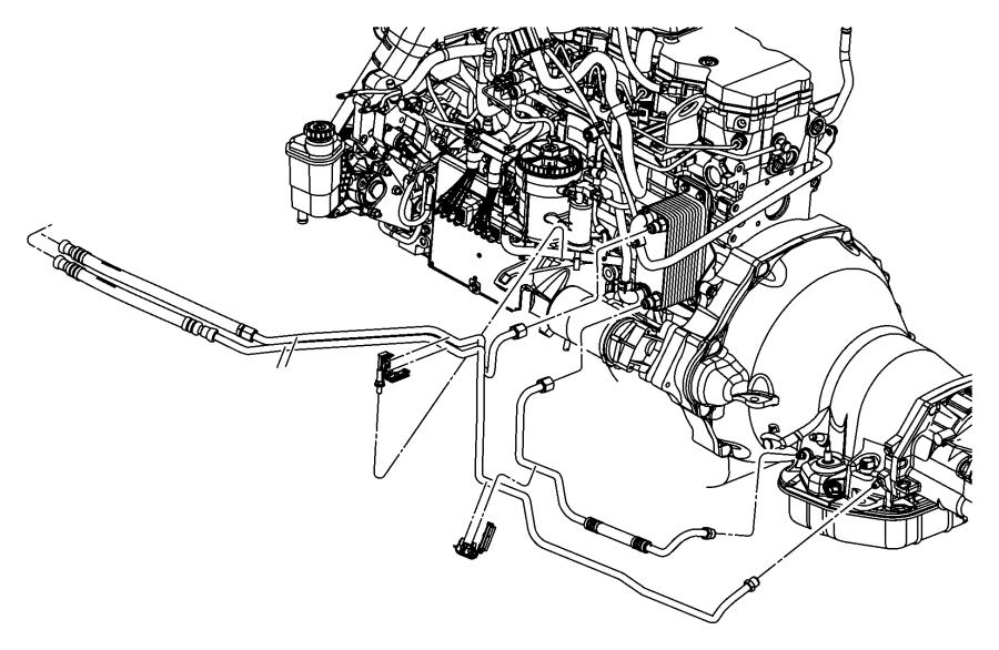2006 dodge ram 2500 tube  oil cooler  lines  engine  transmission