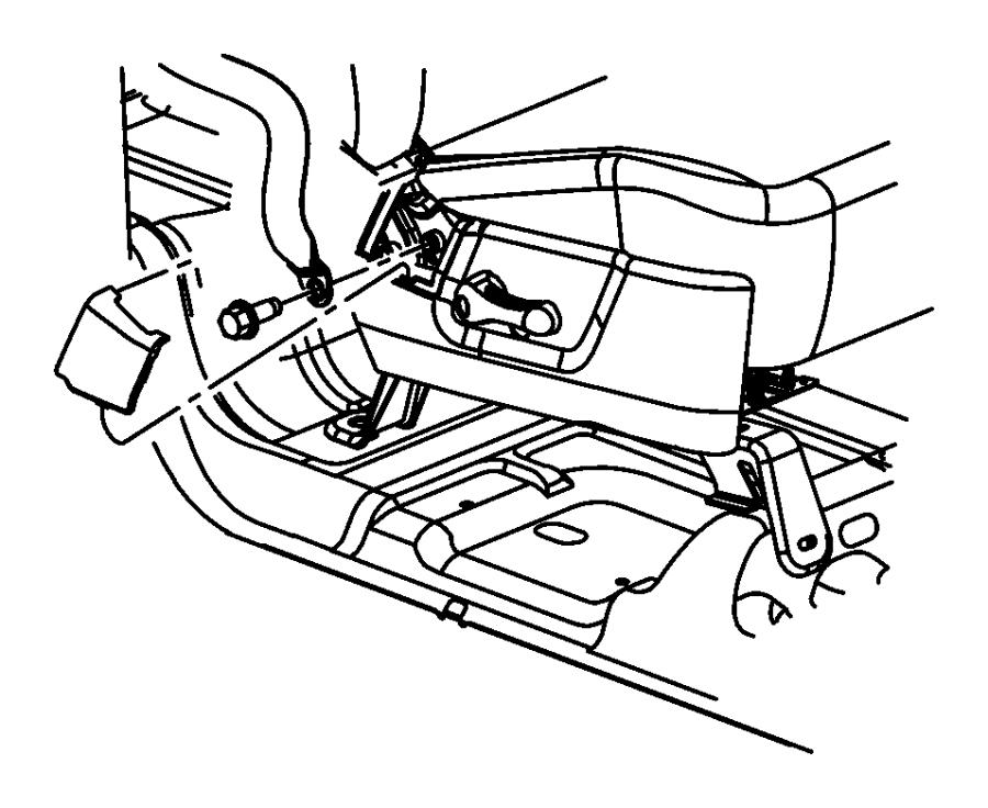 Dodge Ram 1500 Seat Belt  Front Outer  Right   D5   Trim
