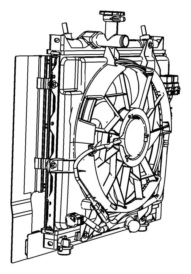 Chrysler Pt Cruiser Fan Module  Radiator Cooling