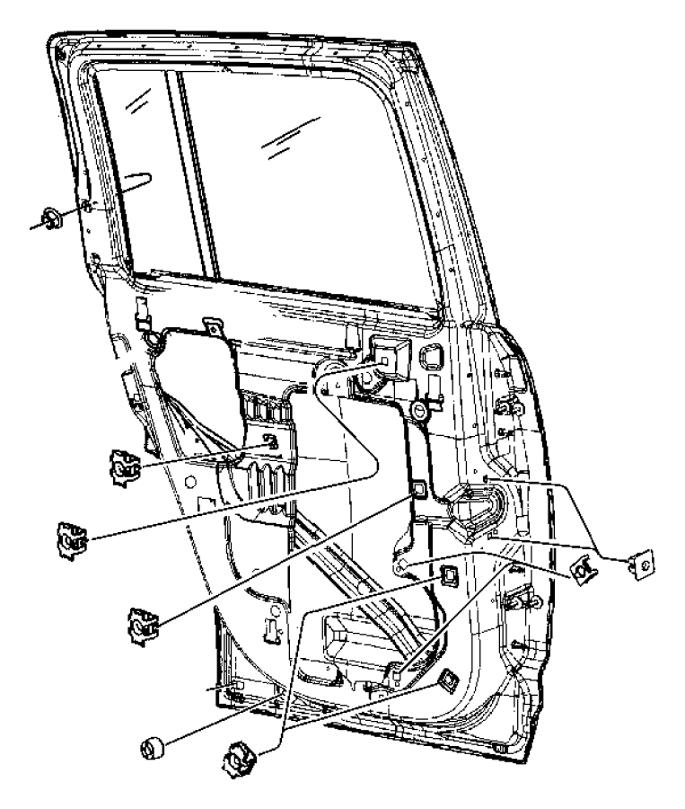 dodge ram 4500 nut  snap in  m4 2 x 1 41  m4 2x1 41  front door  left  rear door  right