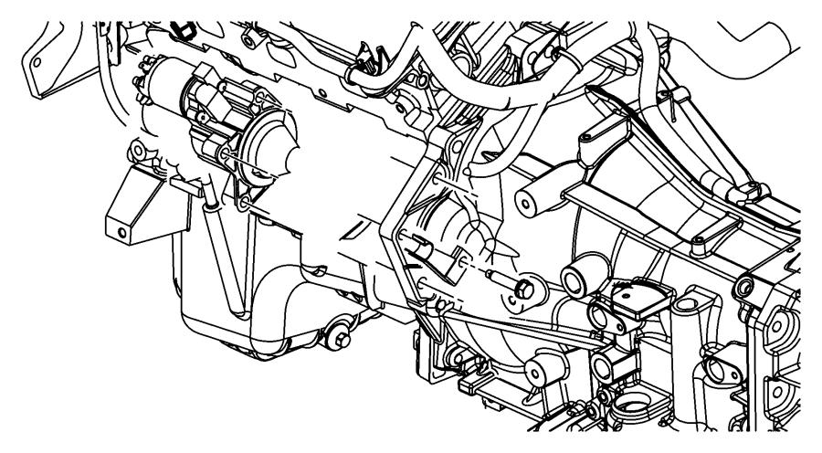 2008 Dodge Magnum Bracket  Wiring  Starter Wiring  Engine