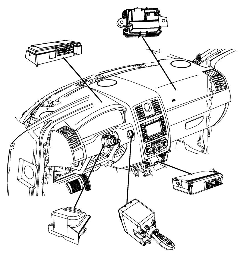 2010 chrysler 300 module  steering control   sau    tilt