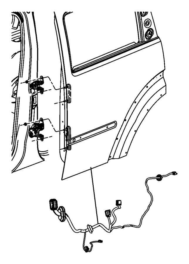 2009 jeep liberty wiring  rear door   8 infinity speakers