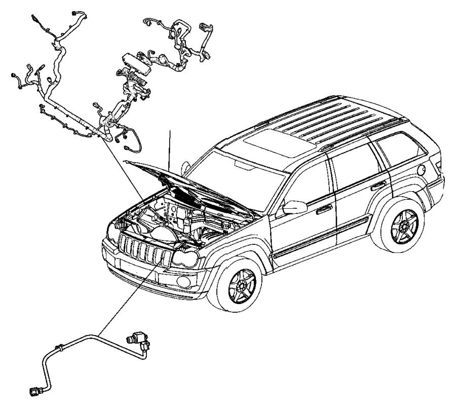 2010 jeep commander wiring  jumper  cooling fan