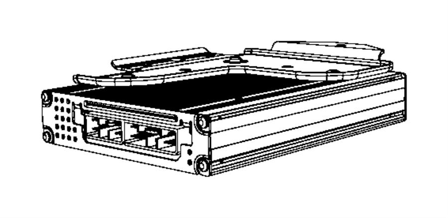 2008 Dodge Ram 1500 Amplifier Radio Rck Rdq Rck