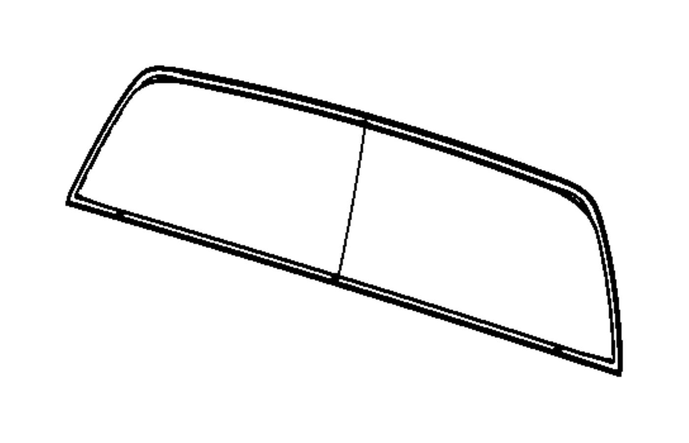 dodge ram 3500 glass  backlite  fixed  window  rear