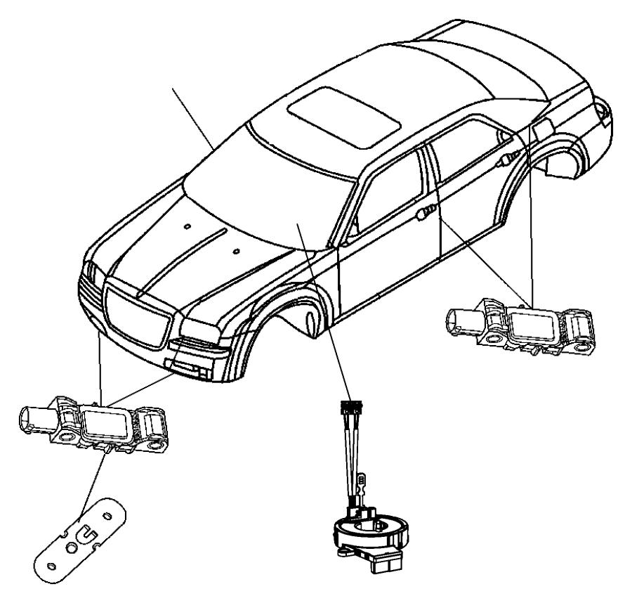 2010 dodge challenger clockspring  steering column control module  trim   all trim codes