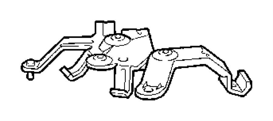 chrysler crossfire bracket  rear axle  fuel  pump  floor