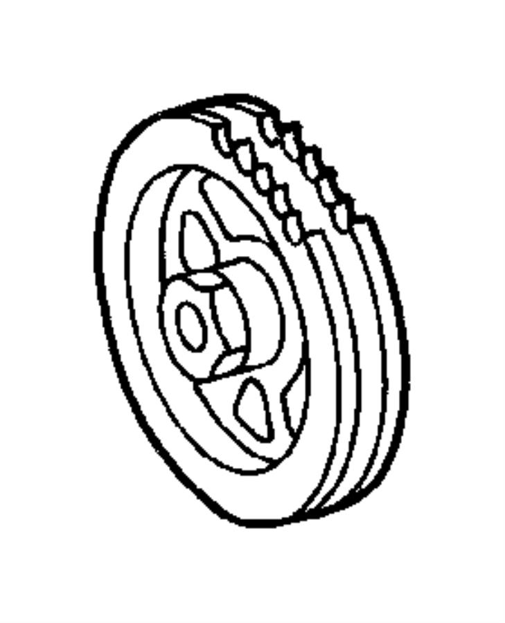 2007 Chrysler Crossfire Sprocket. Camshaft. Timing