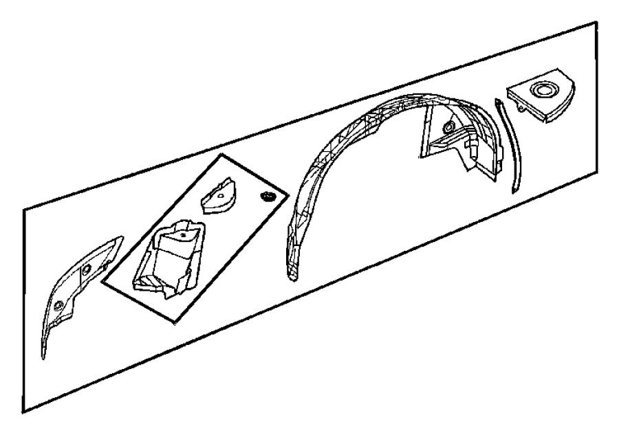 chrysler crossfire wheelhouse  rear inner  left  quarter
