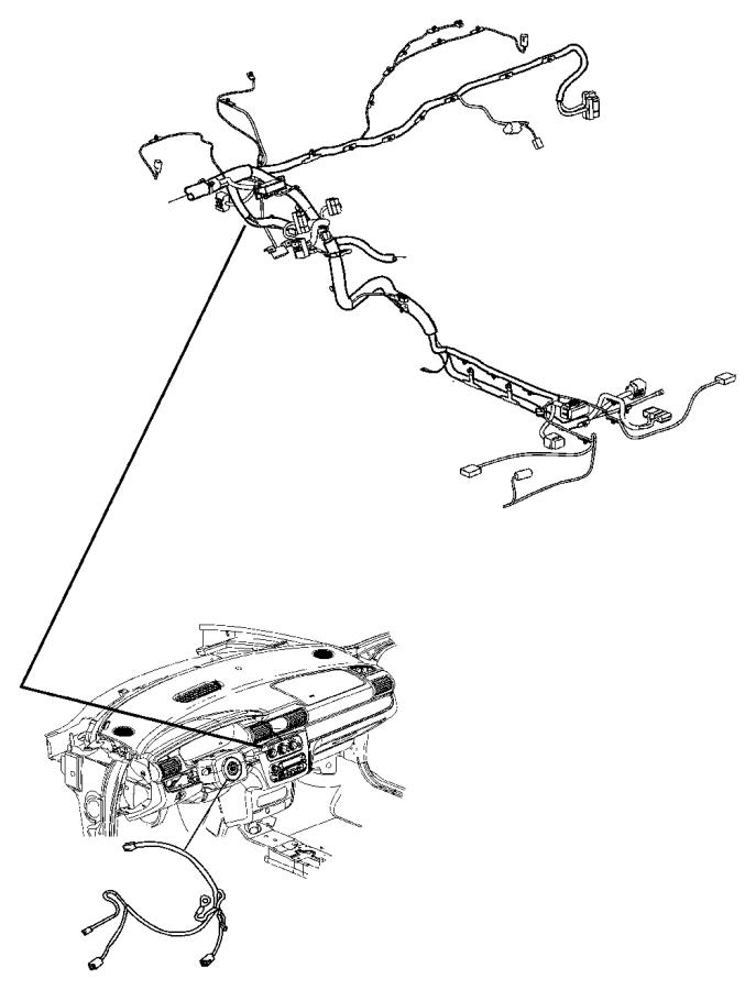 chrysler sebring wiring  instrument panel    air