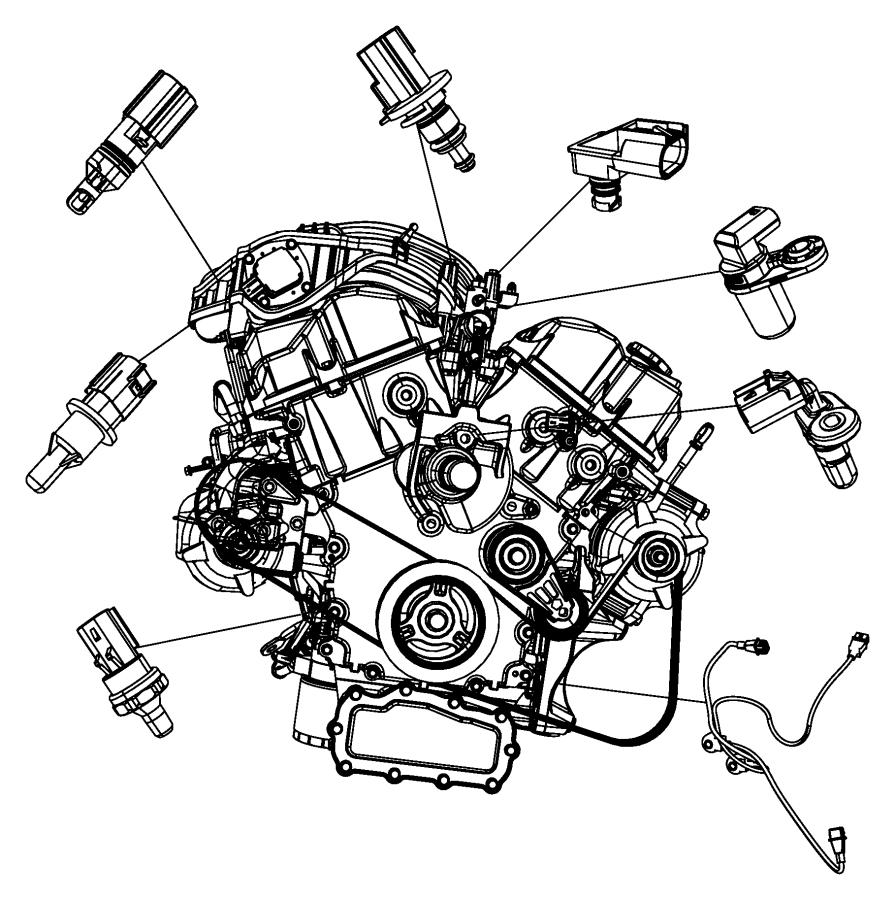 2010 Dodge NITRO Sensor. Crankshaft Position. Engine