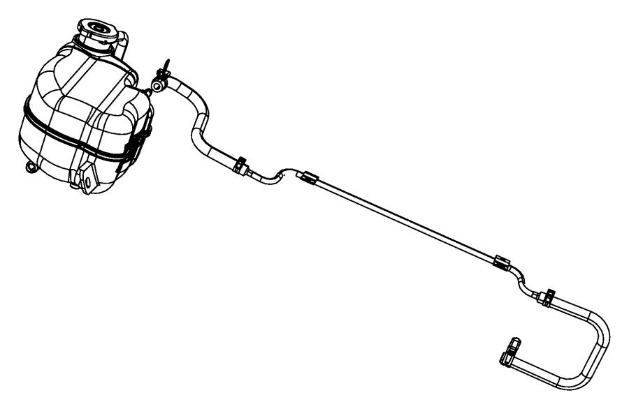 2009 dodge journey hose  coolant bottle inlet  reservoir