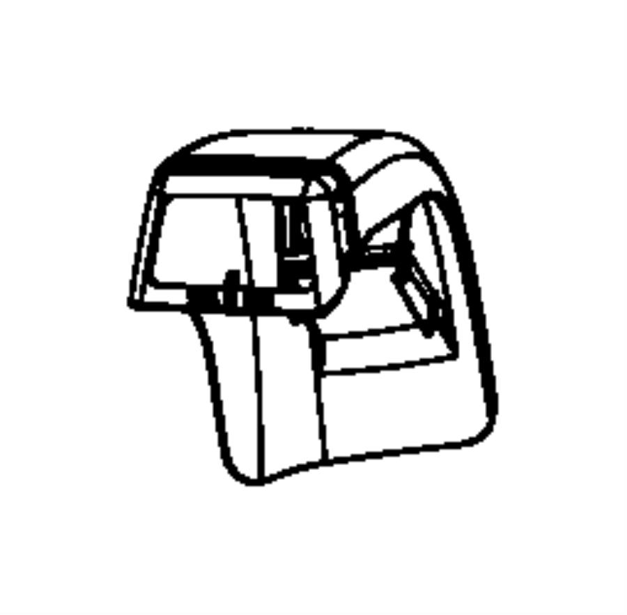 2008 Chrysler Sebring Cover. Seat Belt. Left, Right. Trim