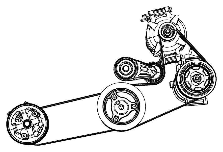 Chrysler Sebring Tensioner  Accessory Drive Belt  Belt