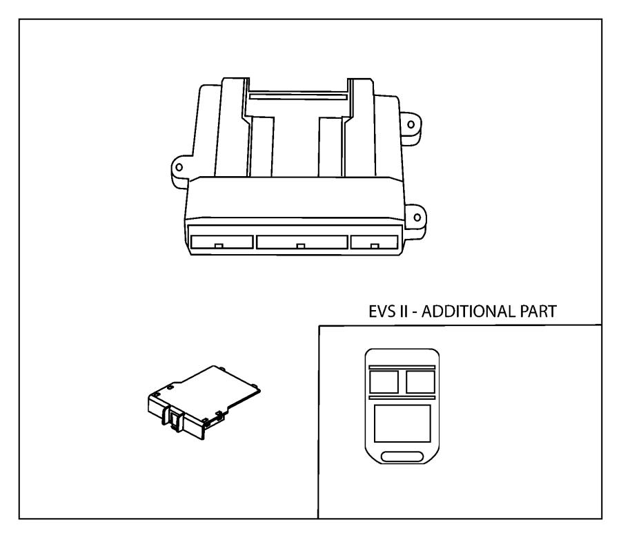 dodge caliber alarm kit  security with keyless  evs i