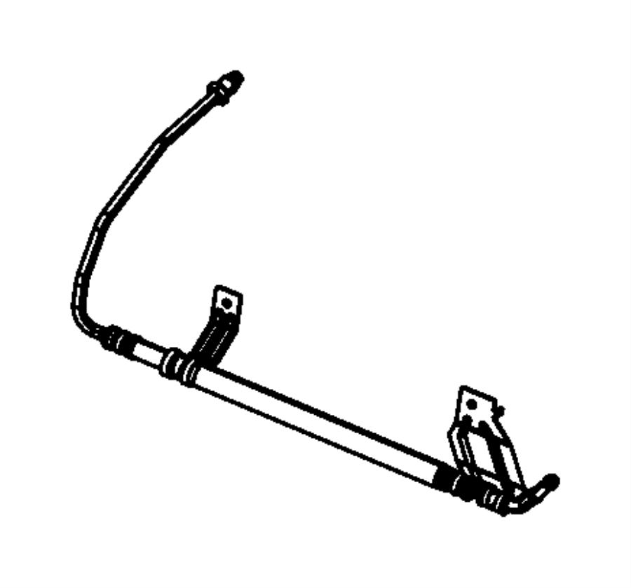 2007 chrysler sebring hose  power steering return  hoses