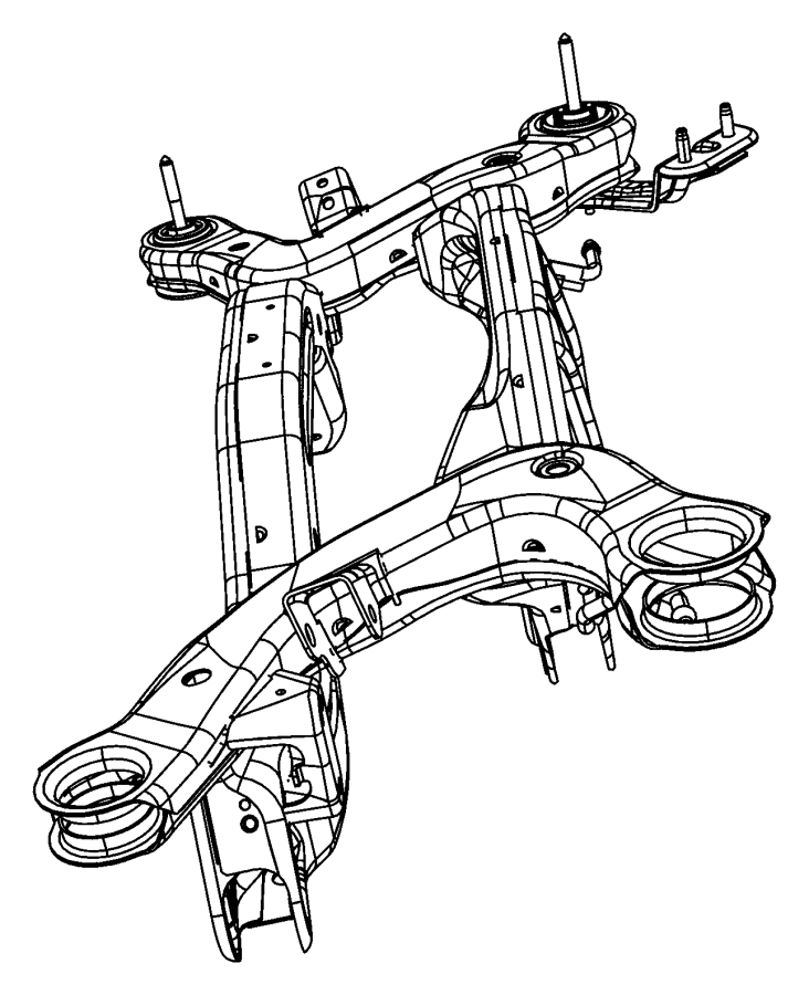Chrysler Sebring Crossmember. Rear Suspension. Cradle