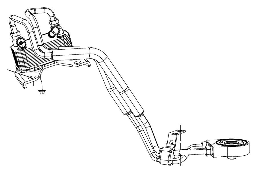 2009 dodge journey seal  engine oil cooler